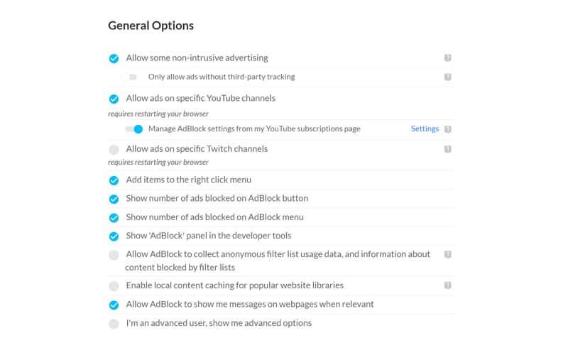 twitch adblock settings